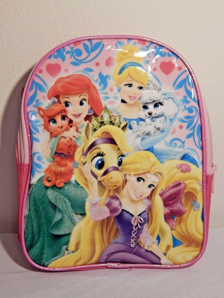 Disney Princess Palace Pets Book Bag Pink Ariel Cinderella Rapunzel Bnwt Bts Disney Princess Palace Pets Princess Palace Pets Palace Pets