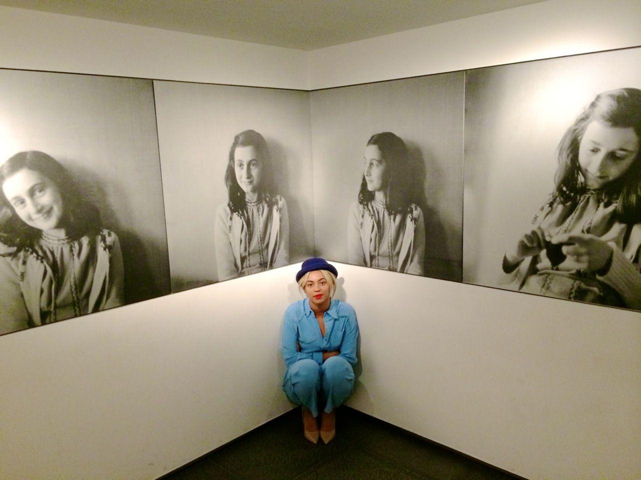 Beyoncé At Anne Frank Museum 19.03.2014 | Anne frank, Anne ...