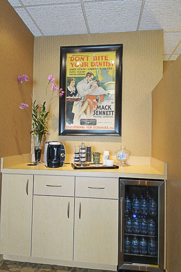 Dentist Office Tour Midtown Atlanta Office coffee bar
