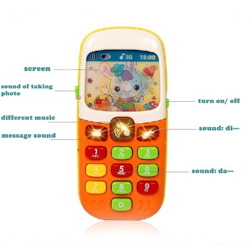 الطفل المبكر ألعاب تعليمية الكهربائية اللعب الموسيقى تعلم آلة الهاتف المحمول الهاتف أفضل هدية عيد الم Christmas Gifts For Kids Electronic Toys Educational Toys