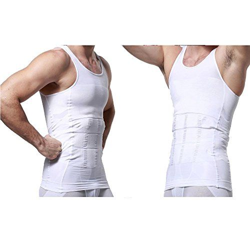 9f6f6929cc8 AGPtek Mens Slimming Body Shaper Vest Shirt Waist Abdomen Slim Vest White M    Details can be found by clicking on the image. (Note Amazon affiliate  link)