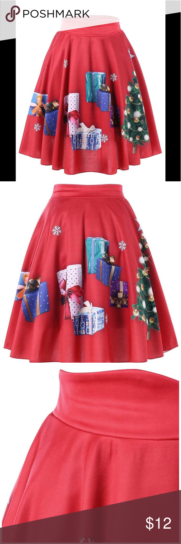 Nwot Christmas Skirts I Have Two Of These Adorable Skirts For Sale Brand New