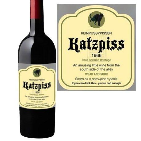 Funny Wine Bottle Labels - Katzpiss | Wine bottle labels ...