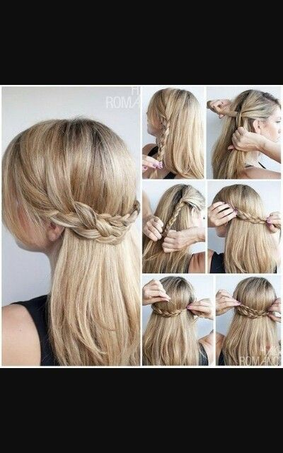 A Step By Step Braid It S So Pretty Hair Styles Hairstyle Straight Hairstyles
