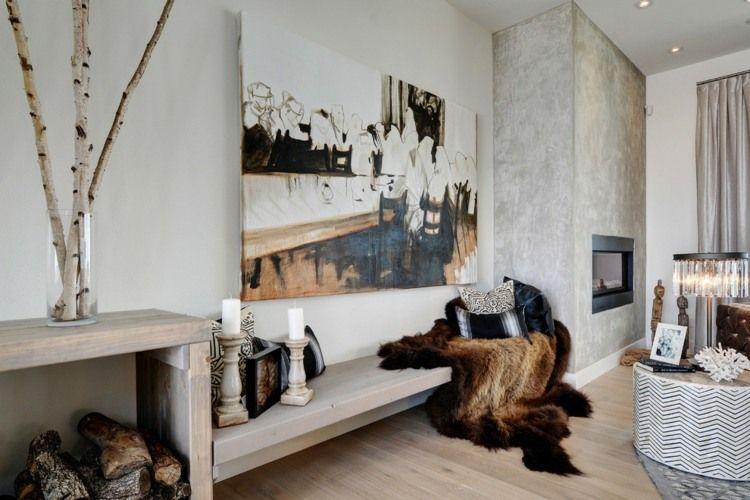 große Birkenzweige in Glasvase im Wohnzimmer - wohnen Pinterest - grose wohnzimmer bilder