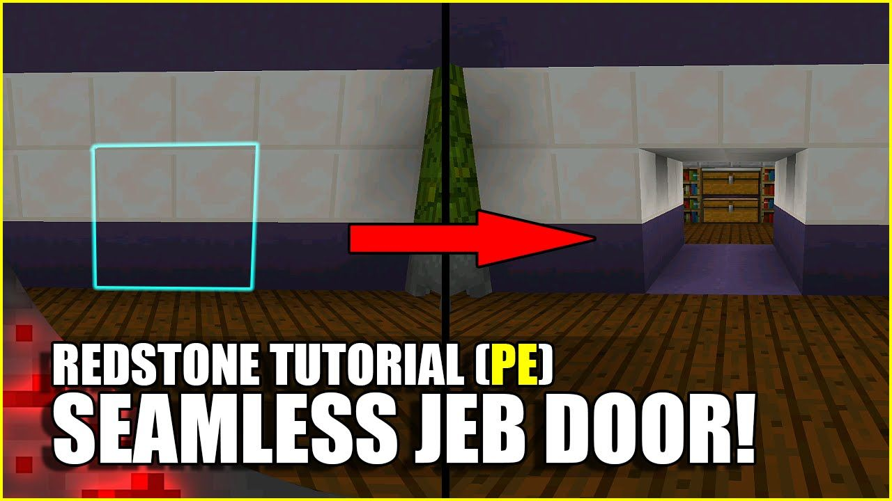 Minecraft PE Redstone Seamless Jeb Door!  sc 1 st  Pinterest & Minecraft PE Redstone: Seamless Jeb Door! | MINECRAFT STUFF ...