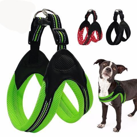 No Pull Quick Fit Reflective Stitching Dog Harness Padded Dog