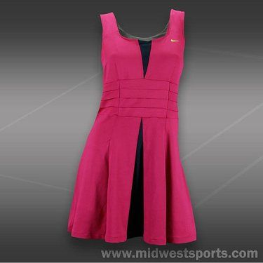 Nike Womens Tennis Dress, Nike Statement Pleated Knit Dress 480421-681.  Cuter from