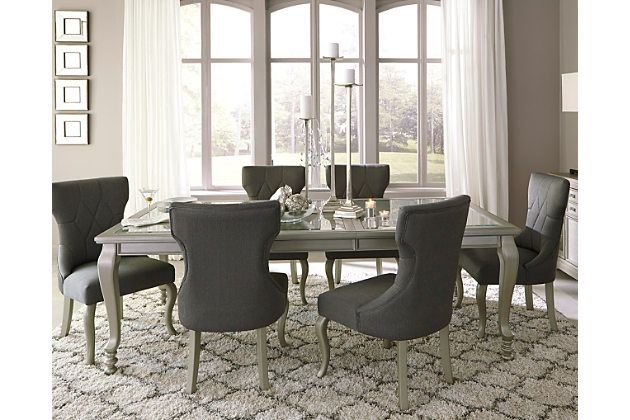 Dining Room Extension Table Coralayne Dining Room Extension Table Relishes The Glitz And Glam