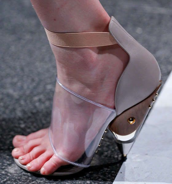 Futuristic Hardwood Heels - Givenchy Spring 2013 Shoes are Chic and Futuristic (GALLERY)