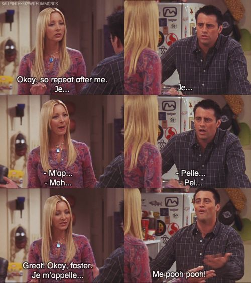 The One Where Joey Speaks French Friends Central Fandom