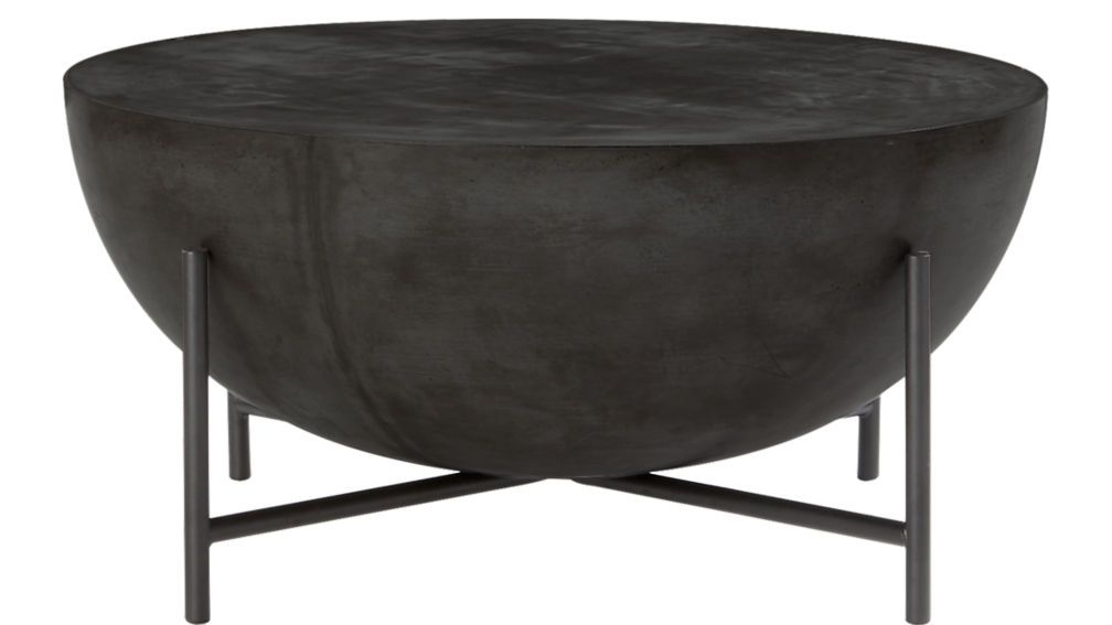 Darbuka Black Coffee Table Coffee Table Cover Round Black