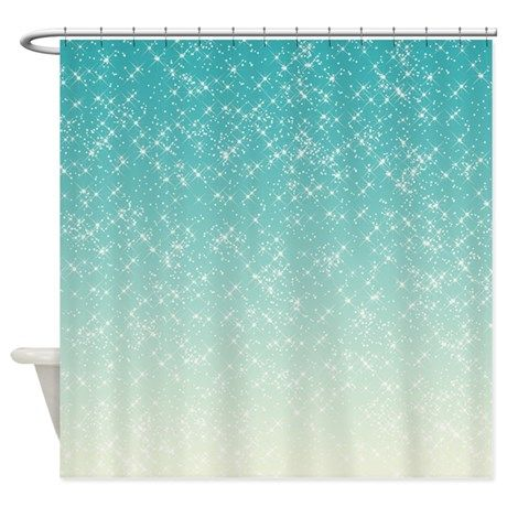 Sparkling Aqua Sea Shower Curtain images