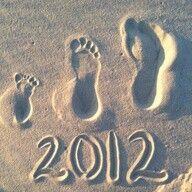 Family beach footprint for memories. Too cute