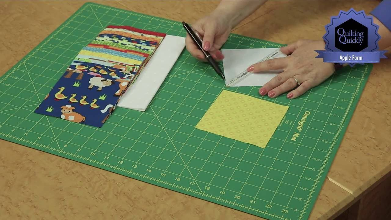 Quilting Quickly: Apple Farm - Kid Quilt - YouTube