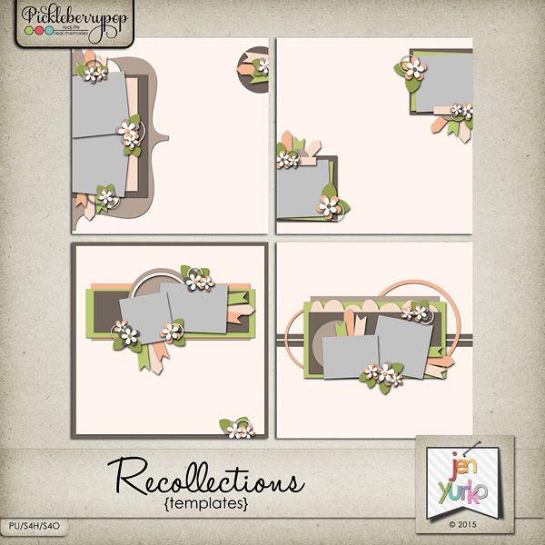 Recollections  | Scrapbook sketches, Scrapbook ...