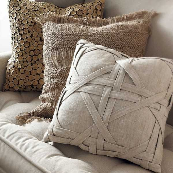 20 Creative Decorative Pillows, Craft Ideas Playing with Texture ...