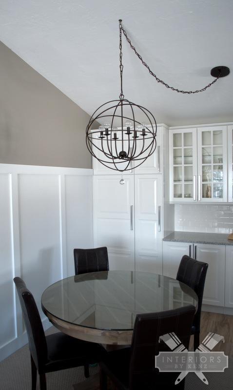 Einrichten Und Wohnen, Esszimmer Leuchten, Esszimmer Beleuchtung,  Küchenbeleuchtung, Orb Leuchte, Esszimmer Kronleuchter, Verglaste  Küchenschränke, ...