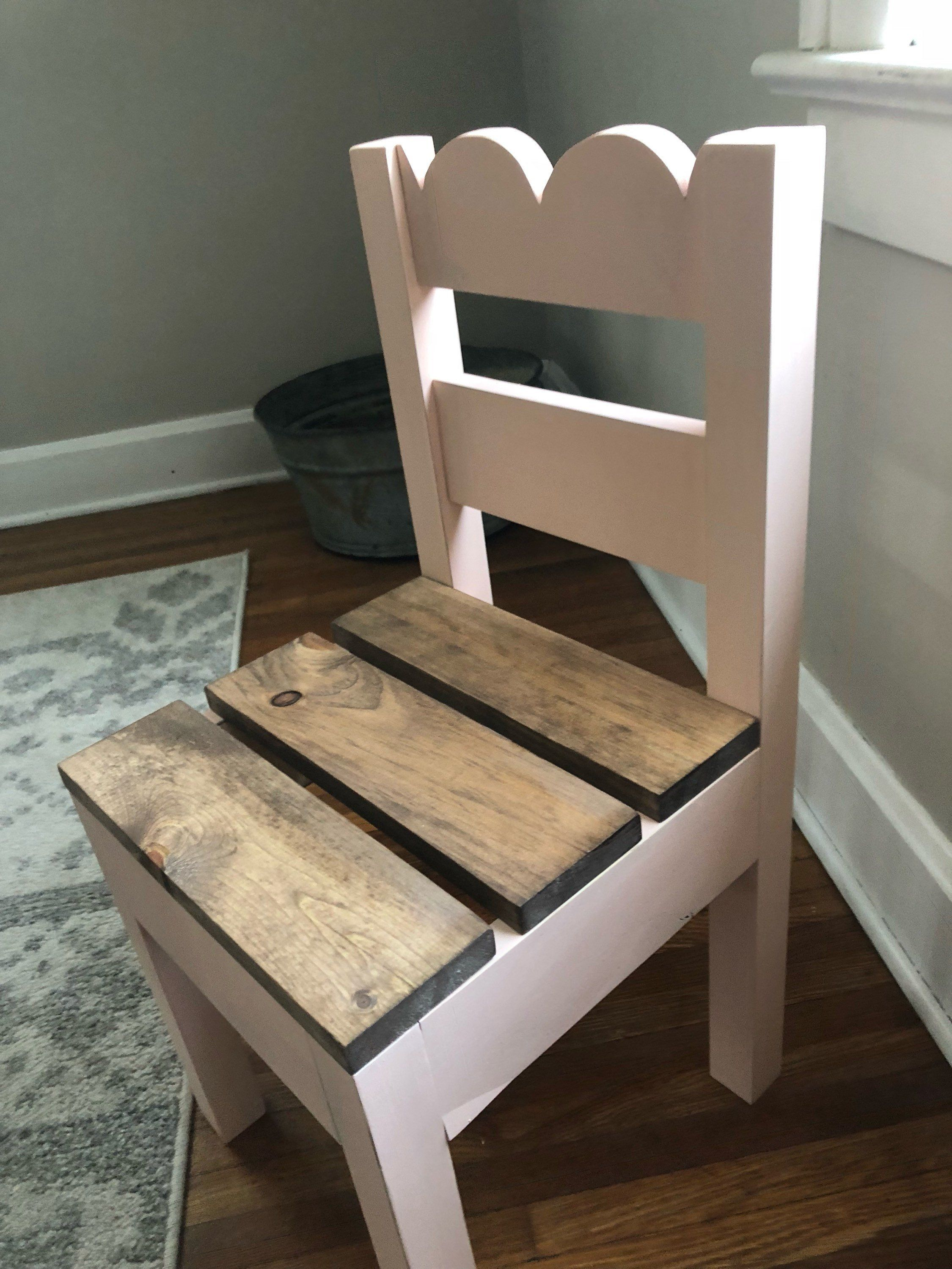 Childrens scalloped farmhouse chair set of two etsy