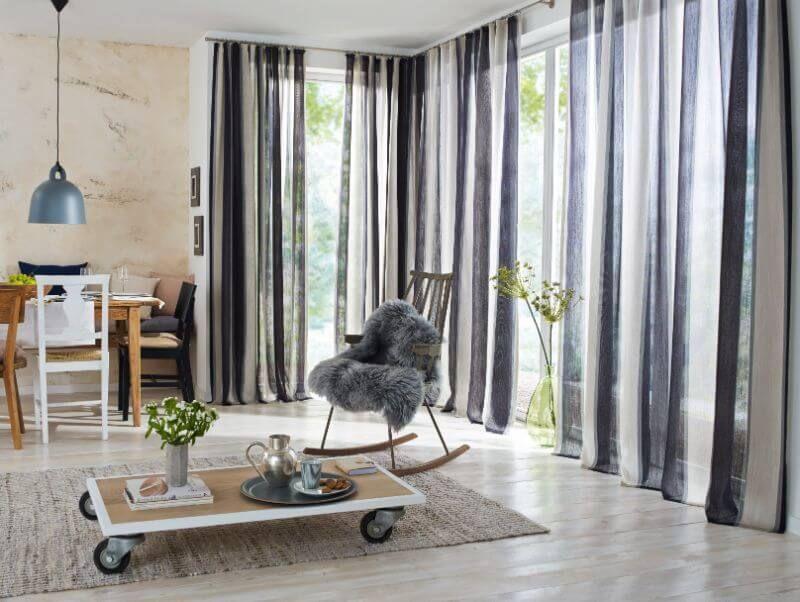 wohnzimmer gardine blau transparent ❤ Vielfältige Plissees