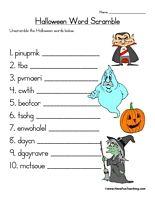 halloween word scramble worksheet have fun teaching