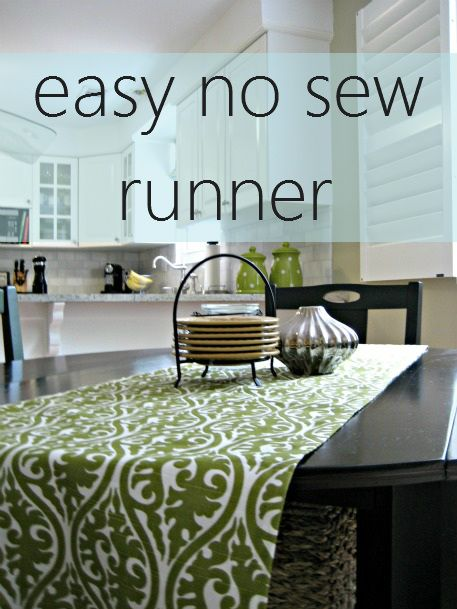 Table Runner No Sew Easy Diy Crafts Kitchen Design Painted Furniture