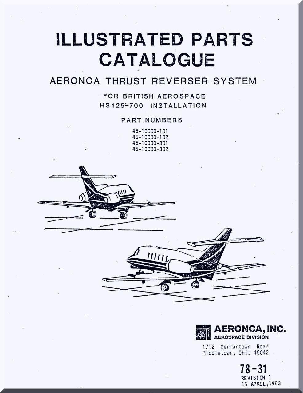 Aeronca Aircraft Engine Thrust Reverser System Illustrated
