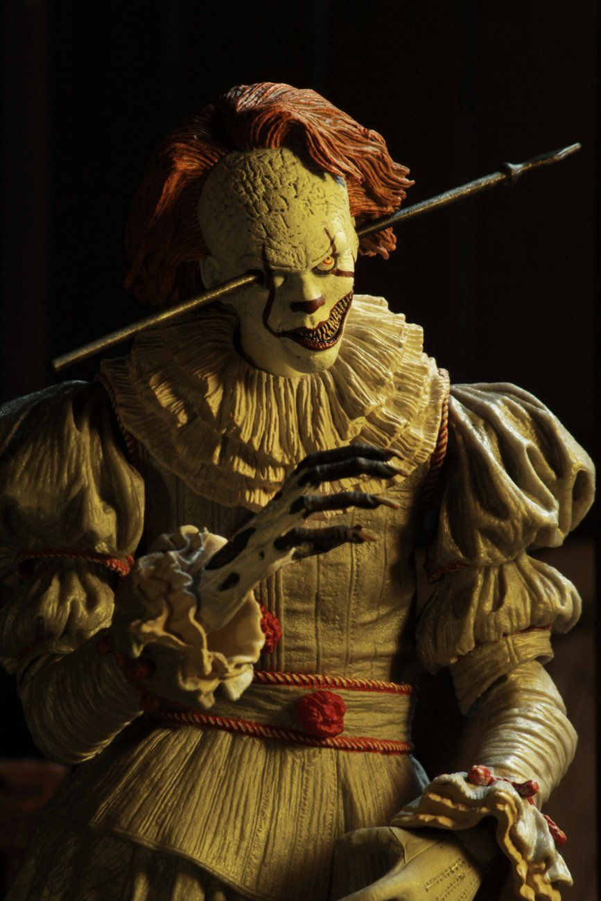 """/'I HEART DERRY/' Ultimate Pennywise 7/"""" scale action figure NOW NECA IT 2017"""
