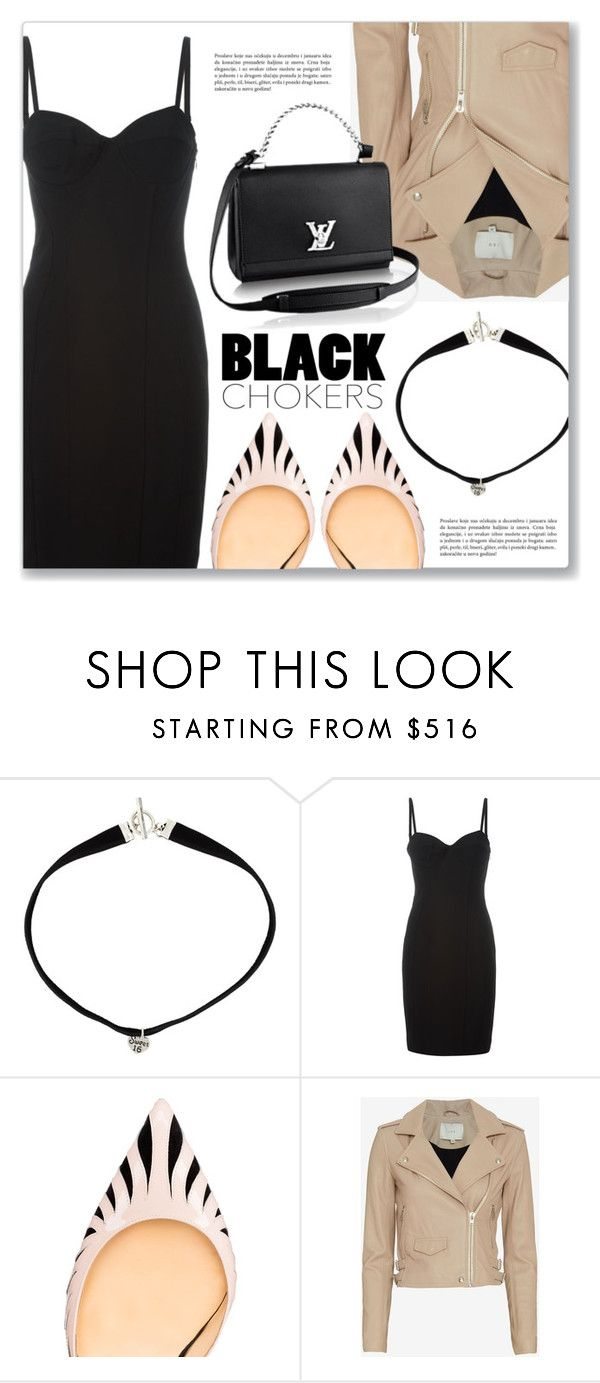 """Not-So-Basic: Black Chokers"" by dressedbyrose ❤ liked on Polyvore featuring Yves Saint Laurent, Alexander Wang, Christian Louboutin and IRO"
