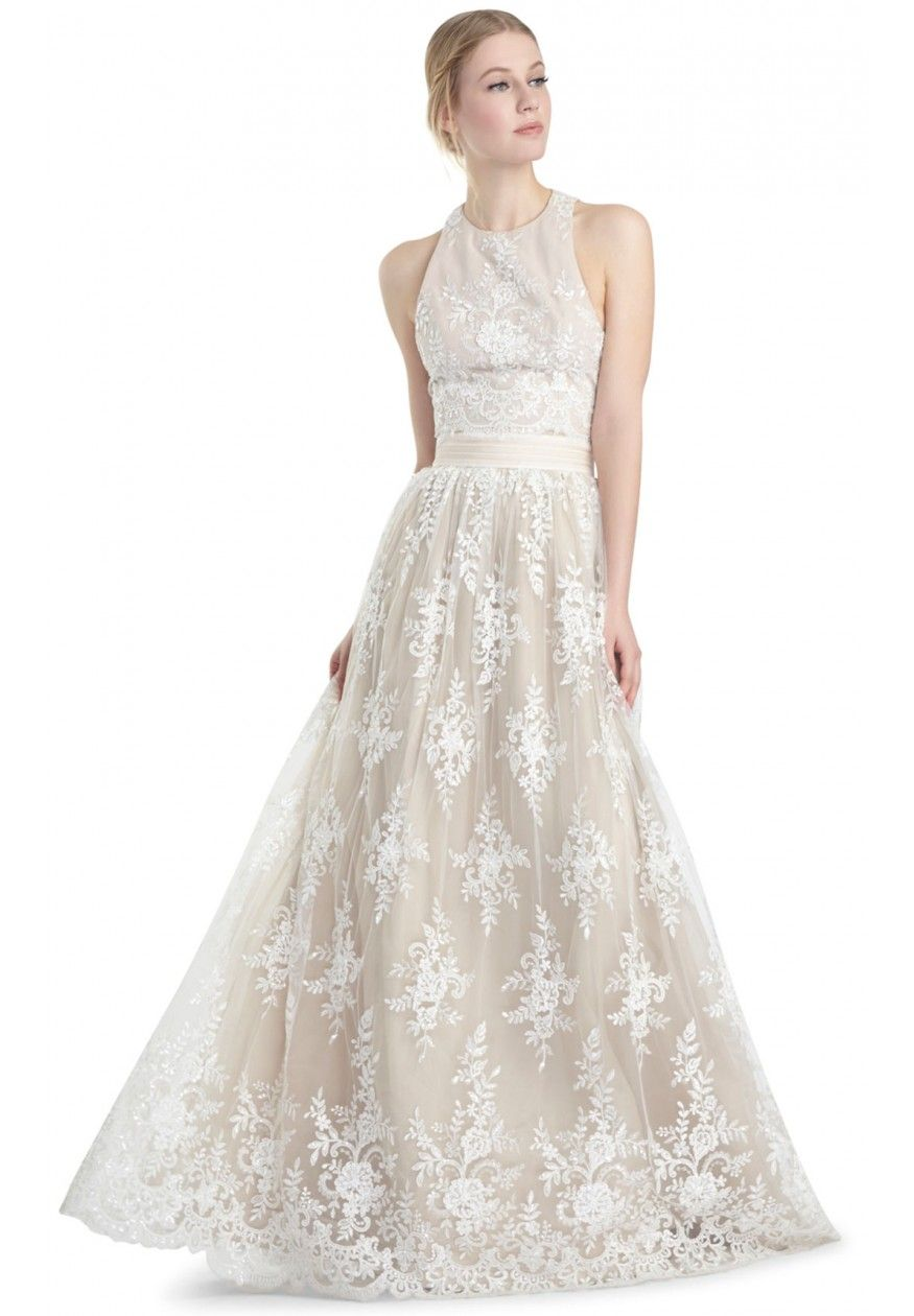 CARTER BALL GOWN SKIRT in WHITE / NUDE by Alice + Olivia | Style ...