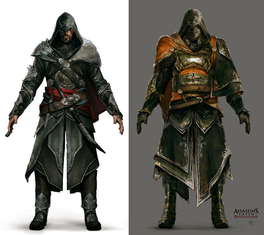 Ezio Armor Set By Jeff Simpson Jpg Assassins Creed Art Concept
