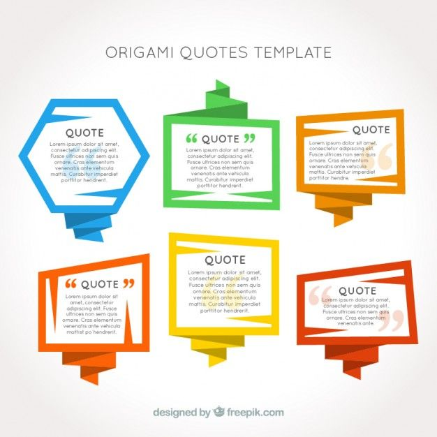 Origami frames quotes template Free Vector Shapes, quote - free download quotation template