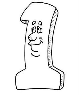 Komik Rakam Ogrenme Ve Boyama Resimleri Nazarca Com Boyama Sayfalari Komik Desenler