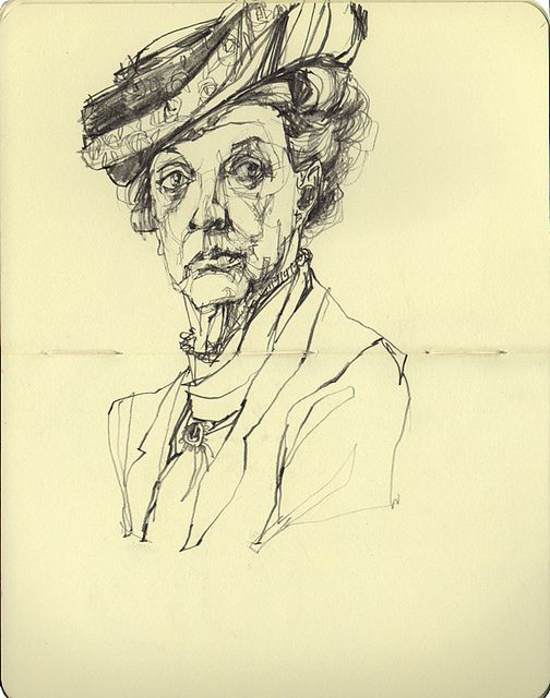The Dowager Countess of Grantham (with a slightly messed up right eye) by deannastaffo, via Flickr