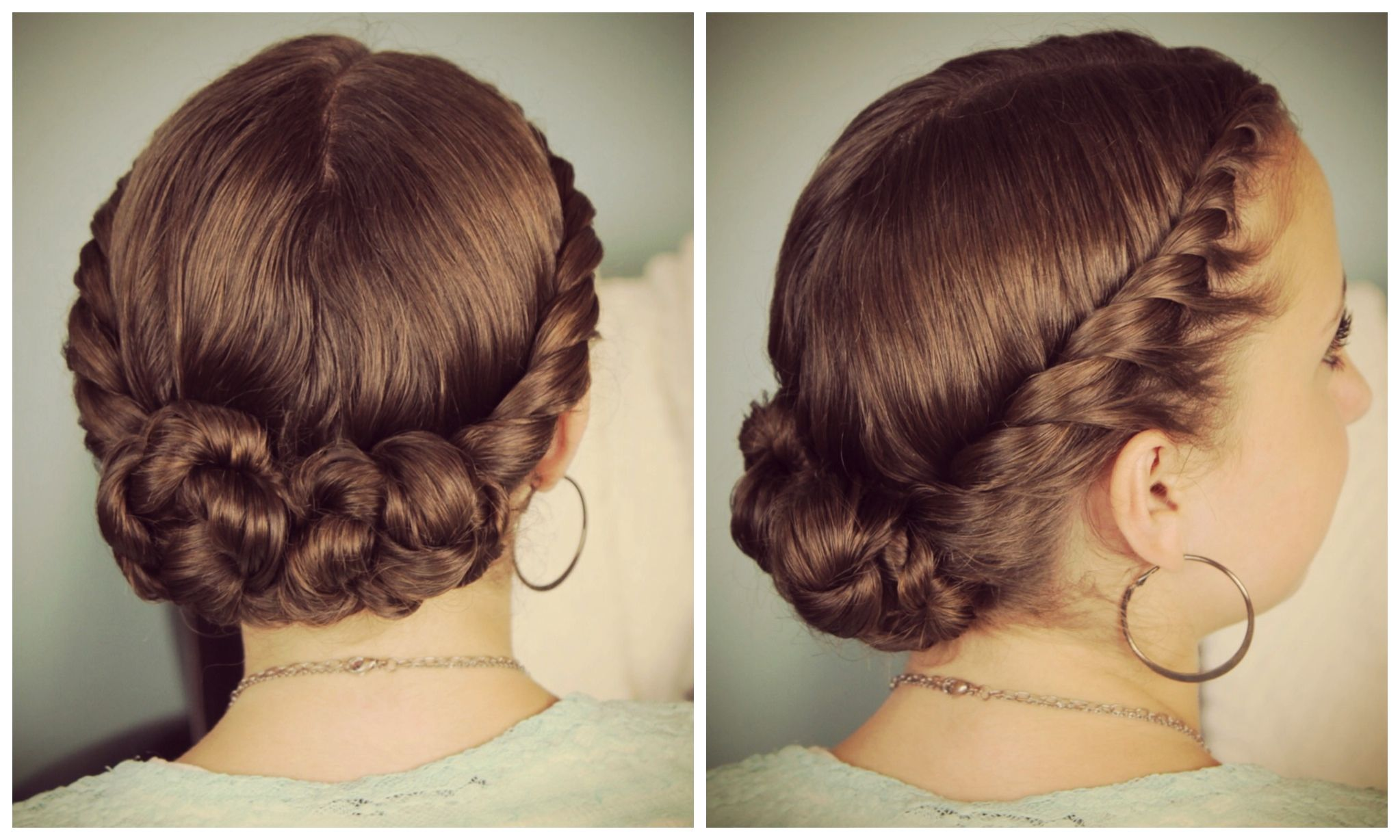 double-twist bun updo | homecoming hairstyles | hair | pinterest