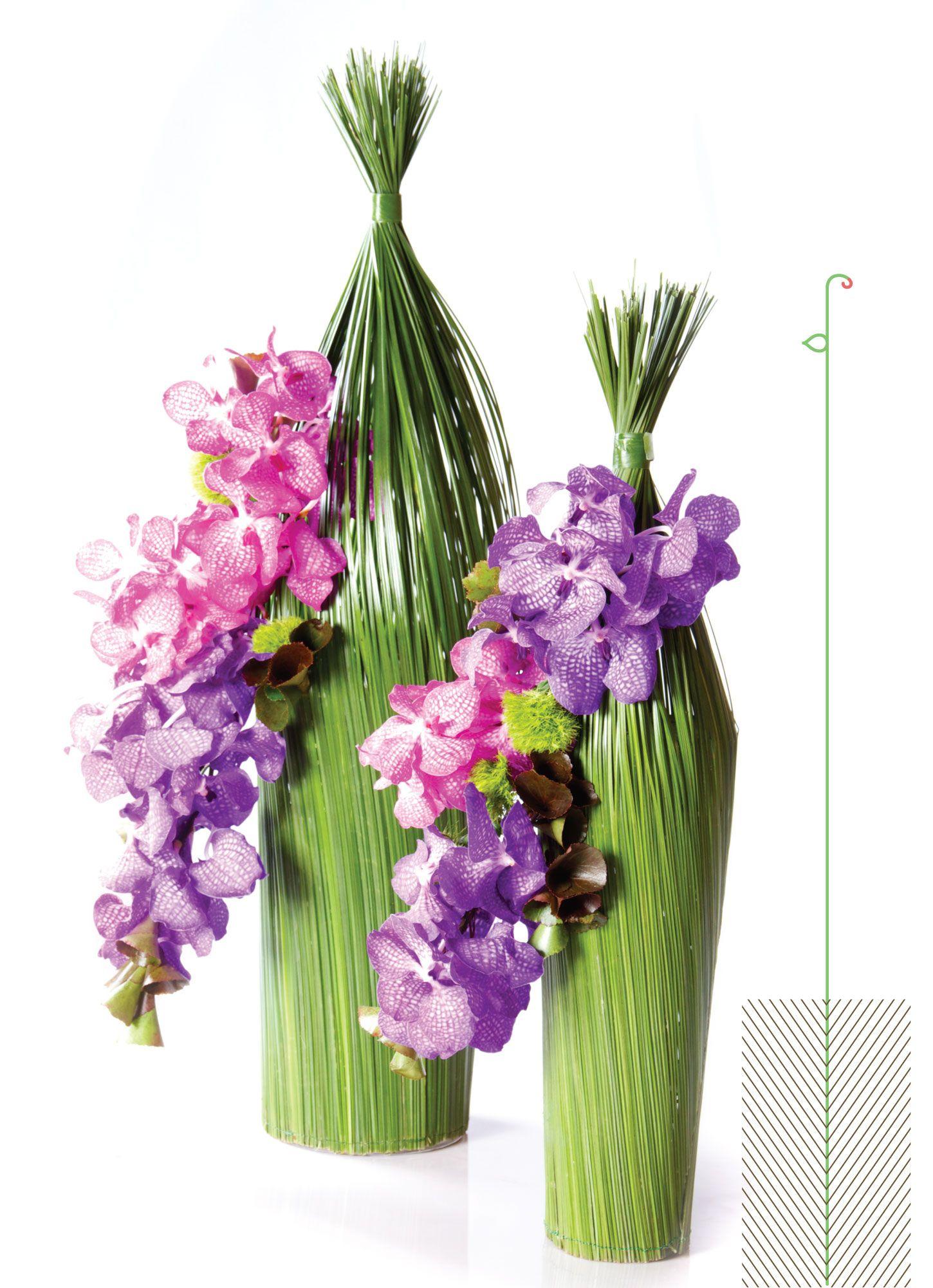 Dazzling Twins Flower Arrangement With Vanda Flowers Villa Des