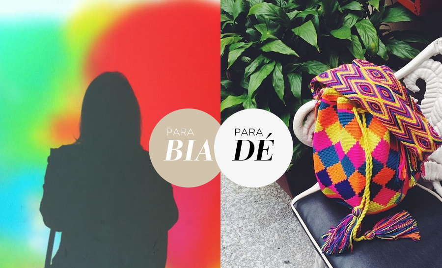 Para Bia, cada cor corresponde a uma sensação Para Dé, transformam qualquer dia ruim em um dia mais feliz