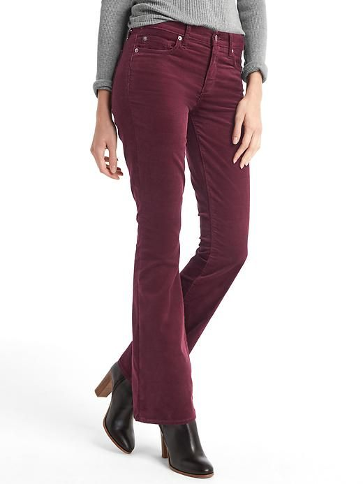 Gap Stretch Corduroy Pants Burgundy And Forest Green