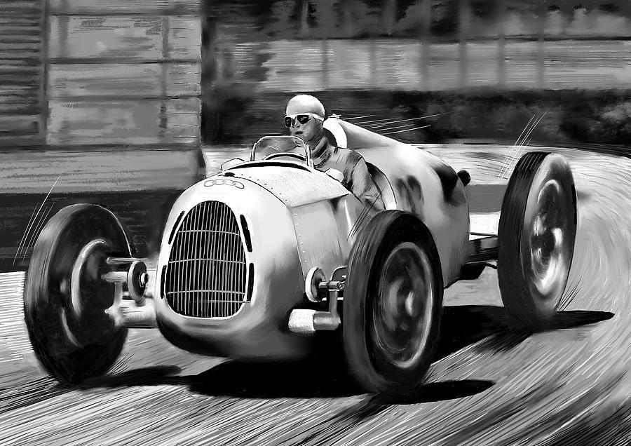 Herman Mueller Auto Union 1937 Digital Art
