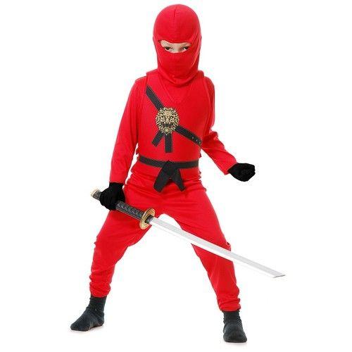 Child Warrior Ninjas Red Blue Black White Ninja Assassin Suit Halloween Costume   eBay  sc 1 st  Pinterest & Child Warrior Ninjas Red Blue Black White Ninja Assassin Suit ...