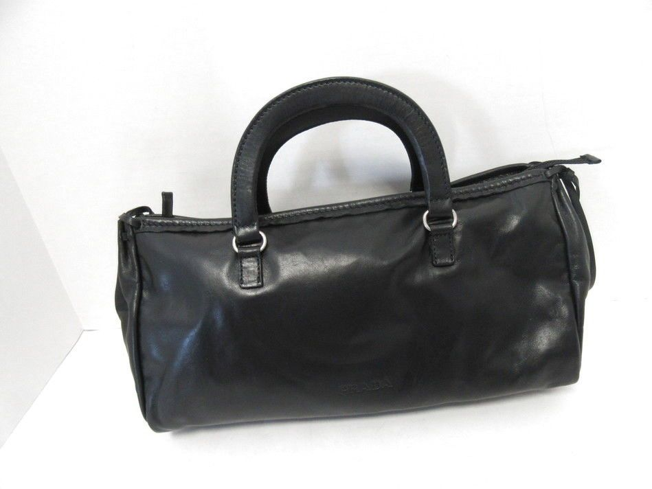 09eb6000b4e1 PRADA BLACK SOFT LEATHER SATCHEL HANDBAG@ebay @pinterest #designer #wearing  #product #handbags #women