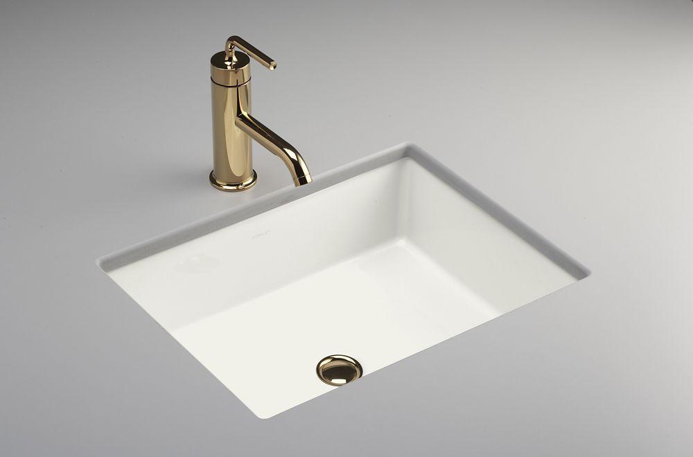 Verticyl Rectangular Undercounter Bathroom Sink In White