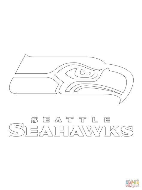 Seattle Seahawks Logo Coloring Page Supercoloring Com Seattle