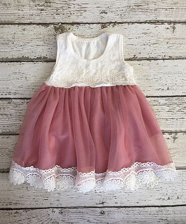 Look what I found on #zulily! Dusty Rose Vintage Lace Tank Dress - Infant & Toddler #zulilyfinds