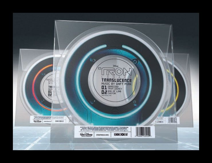 TRON: Legacy Translucence Identity Disc Limited Edition Vinyl Record by Daft Punk