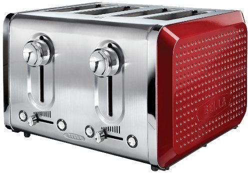 Toaster 4 Slice Red Bella Dots Collection Electric Toast Bread Bagel Breakfast #Bella #toast #toaster #breakfast