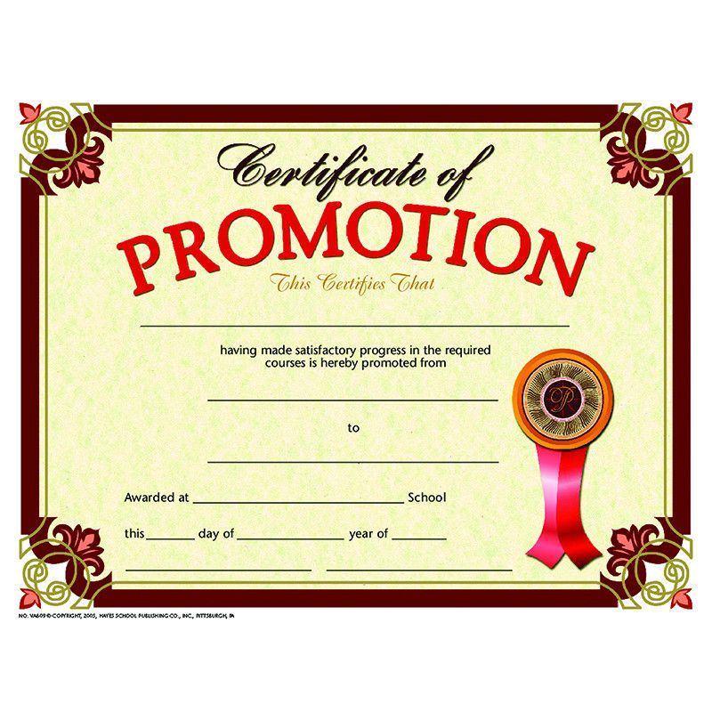 Certificate Promotion 30 Set 5th Grade Graduation Pinterest