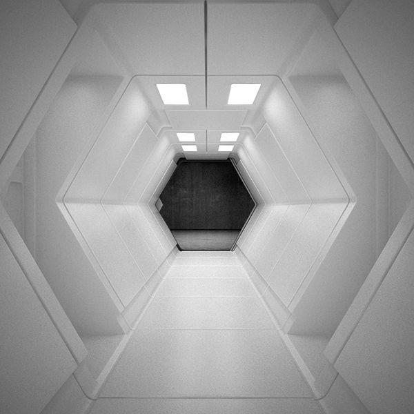 Sci Fi Interior 3D Model on Behance TW1M Pinterest - interieur design dreidimensionaler skulptur