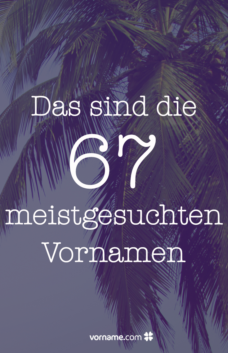 Wir haben Google gefragt, welche Vornamen die Deutschen am häufigsten suchen. Und hier ist das Ergebnis.
