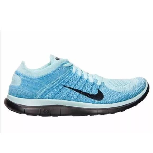 455e61f456dce New Nike Free 4.0 Flyknit Women s Running Shoes Nike Free Flyknit 4.0 -  Glacier Ice Black Polarized Blue - Womens Running Shoes - 631050 402 Size  9.5 100% ...